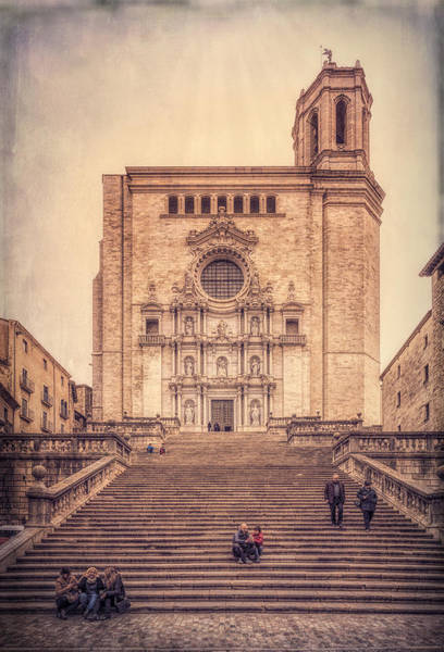 Photograph - Girona Cathedral by Joan Carroll