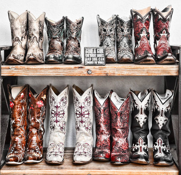 Photograph - Give A Girl Boots by Sharon Popek