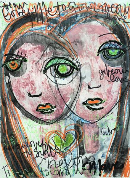 Painting - Give Our Love Time To Grow by Laurie Maves ART