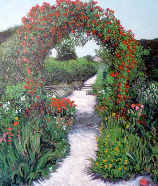 Painting - Giverney Garden Path by Tom Roderick