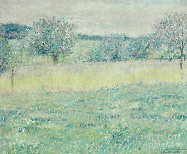 Tranquility Painting - Giverny Landscape by Frederick Carl Frieseke