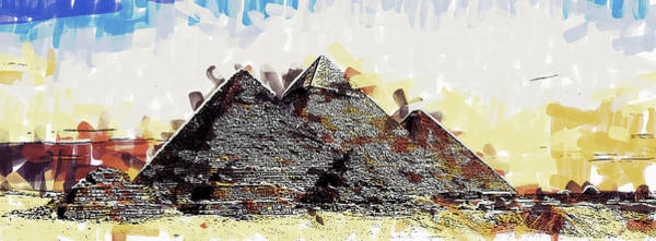 Painting - Giza Pyramids - Dwp2371501 by Dean Wittle