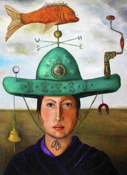 Sombrero Painting - Gizmo 3 by Leah Saulnier The Painting Maniac