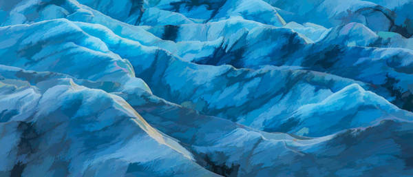 Iceland Digital Art - Glacial Blue II by Jon Glaser