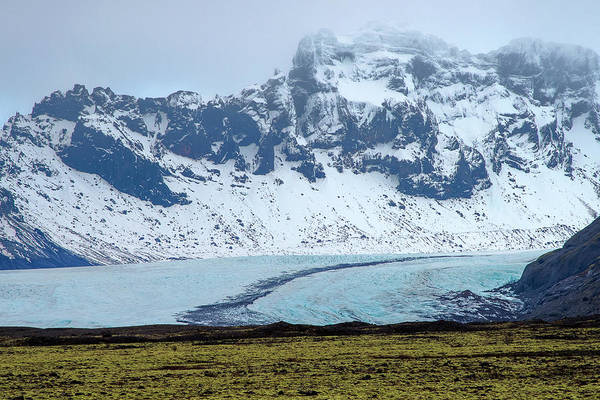 Photograph - Glacier And Mountain, Iceland by Pradeep Raja PRINTS