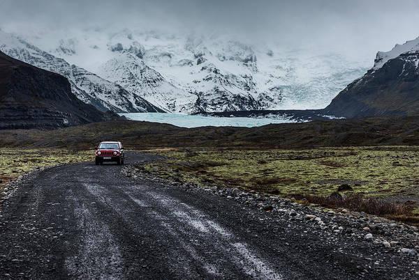 Photograph - Glacier And Mountains, Iceland by Pradeep Raja PRINTS