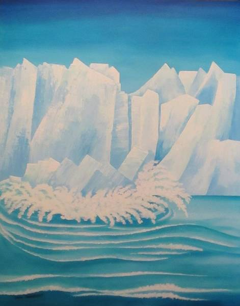 Wall Art - Painting - Glacier Bay Alaska by Carol Sabo