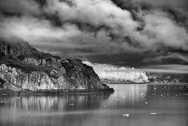 Photograph - Glacier Bay Alaska In Bw by Paul Ross