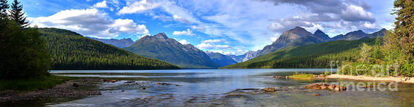 Photograph - Glacier Bowman Lake Panorama by Adam Jewell