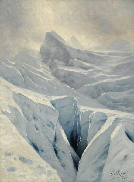 Wall Art - Painting - Glacier Des Bossons, Chamonix by Gabriel Loppe