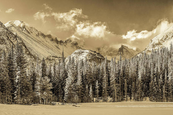 Wall Art - Photograph - Glacier Gorge - Antique by Eric Glaser