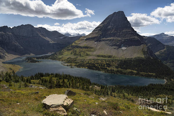 Photograph - Glacier - Hidden Lake And Bearhat by Jemmy Archer