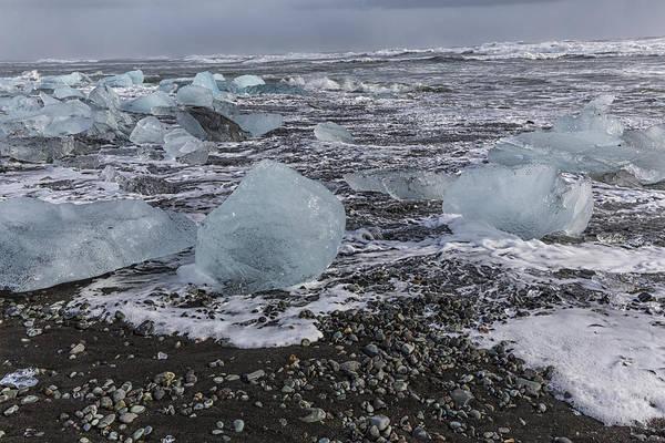 Tapestry - Textile - Glacier Ice 3 by Kathy Adams Clark