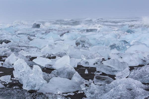 Tapestry - Textile - Glacier Ice by Kathy Adams Clark
