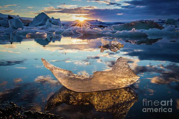 Photograph - Glacier Lagoon by Inge Johnsson
