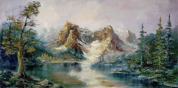 Painting - Glacier Lake by Rebecca Kimbel