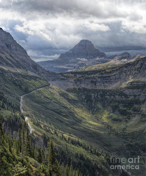 Photograph - Glacier - Looking Back At Logan Pass by Jemmy Archer