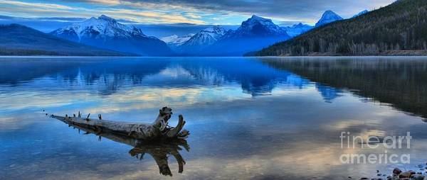 Photograph - Glacier Mountain Reflections by Adam Jewell