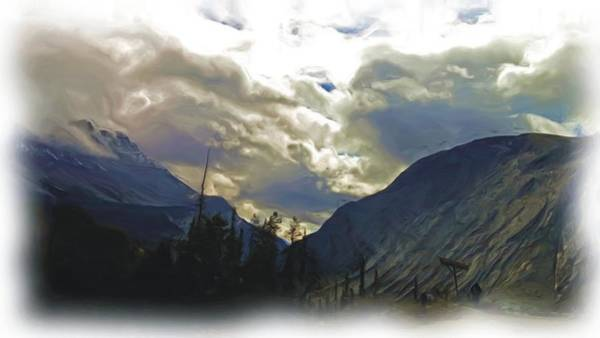 Wall Art - Photograph - Glacier Mountains - Oil Painting Technique by Janis Beauchamp