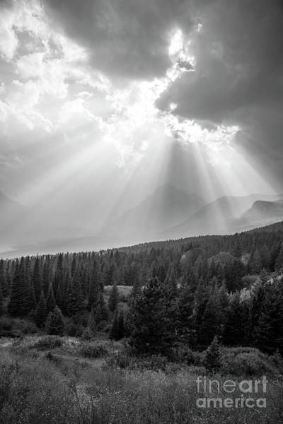 Wall Art - Photograph - Glacier National Park Black And White by Twenty Two North Photography