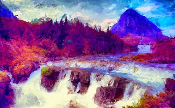 Digital Art - Glacier National Park by Caito Junqueira