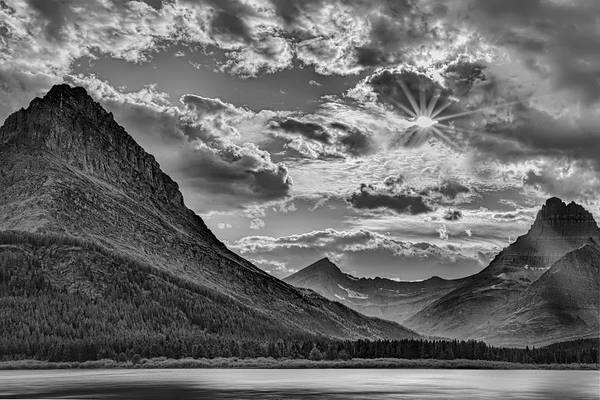 Photograph - Glacier National Park In Black And White by Kay Brewer