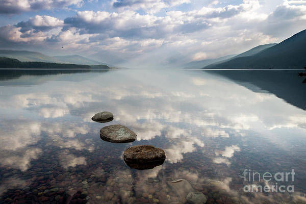Wall Art - Photograph - Glacier National Park Lake Reflection by Twenty Two North Photography