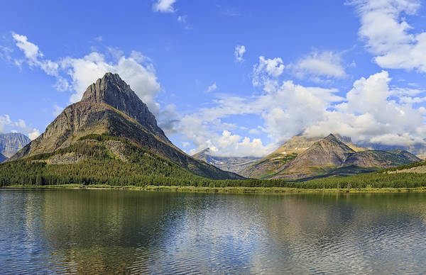 Photograph - Glacier National Park, Montana, Mountain Scene by Kay Brewer