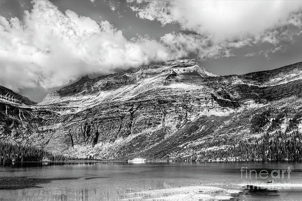 Photograph - Glacier National Park Scenic Beauty In Black And White by Kay Brewer