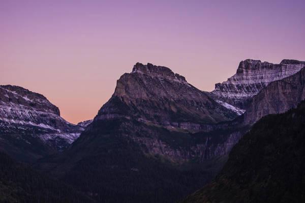 Photograph - Glacier Park Dusk, Montana by Jedediah Hohf