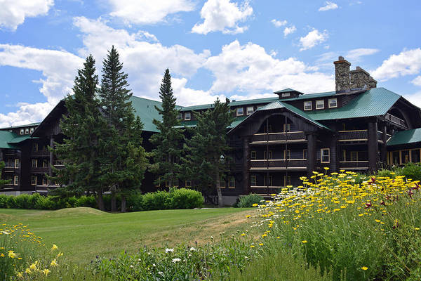 Photograph - Glacier Park Lodge by Bruce Gourley