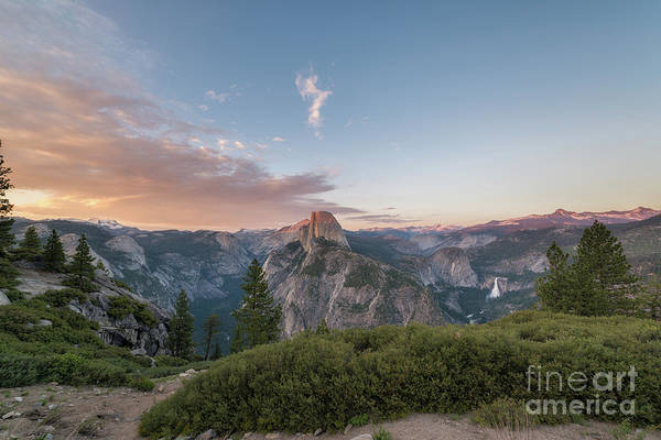 Photograph - Glacier Point Amphitheater Sunset  by Michael Ver Sprill
