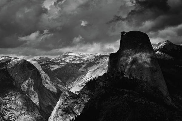 Photograph - Glacier Point Yosemite Black White by Kyle Hanson