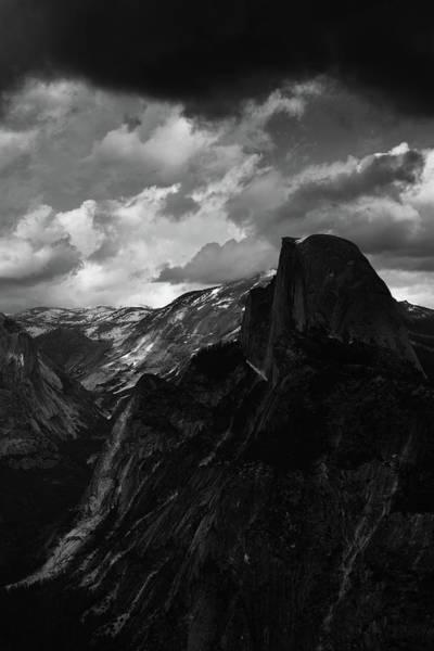 Photograph - Glacier Point Yosemite Portrait Black White by Kyle Hanson