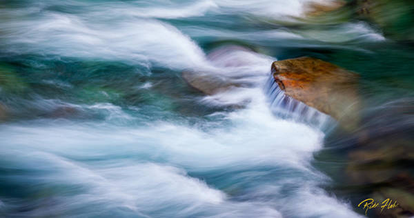 Photograph - Glacier River Flow by Rikk Flohr