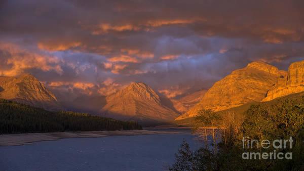 Photograph - Glacier - Sunrise At Lake Sherburne by Jemmy Archer