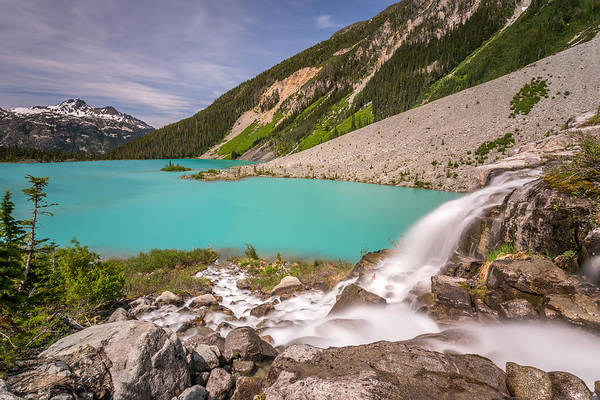 Photograph - Glacier Waterfall by Pierre Leclerc Photography