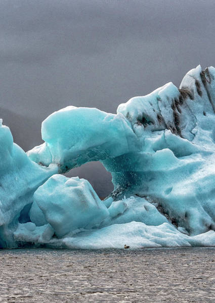 Photograph - Glacier With Hole by Tom Singleton