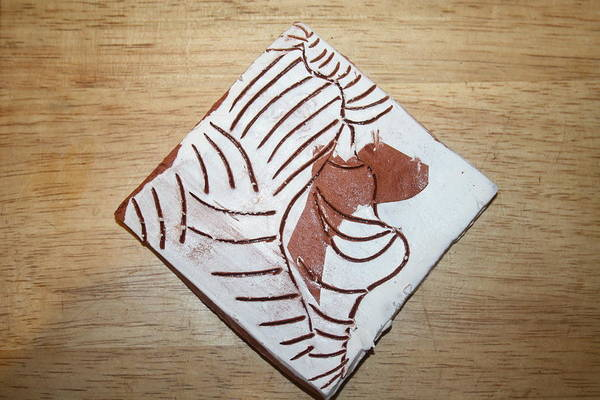 Ceramic Art - Glad - Tile by Gloria Ssali
