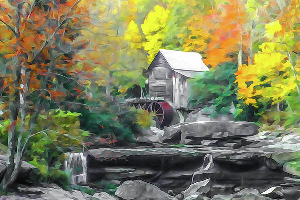 Photograph - Glade Creek Grist Mill #2 by Tom and Pat Cory