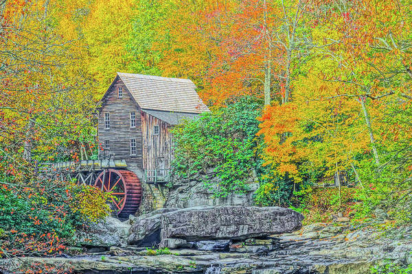 Photograph - Glade Creek Grist Mill #3 by Tom and Pat Cory