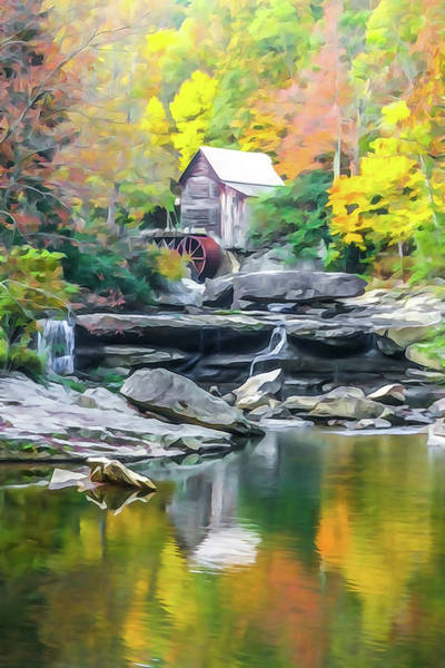 Photograph - Glade Creek Grist Mill #4 by Tom and Pat Cory