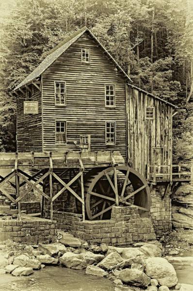 Wall Art - Photograph - Glade Creek Grist Mill 5 - Sepia by Steve Harrington