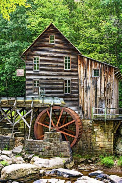 Wall Art - Photograph - Glade Creek Grist Mill 6 by Steve Harrington
