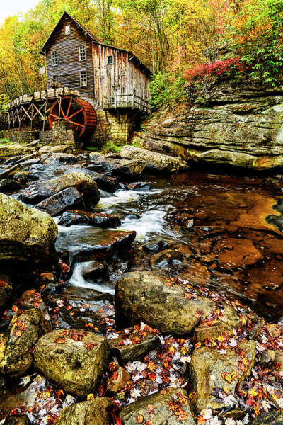 Babcock Photograph - Glade Creek Grist Mill Fall  by Thomas R Fletcher