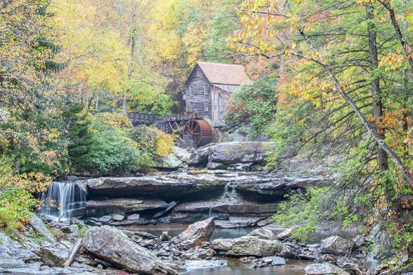 Glade Creek Grist Mill In Autumn Art Print