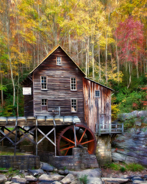 Babcock Photograph - Glade Creek Grist Mill by Lana Trussell