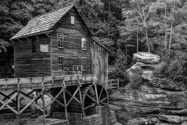 Photograph - Glade Creek Mill - Black And White - West Virginia by Gregory Ballos