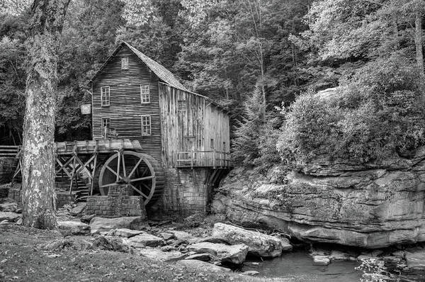 Photograph - Glade Creek Mill In Black And White - Beckley West Virginia by Gregory Ballos