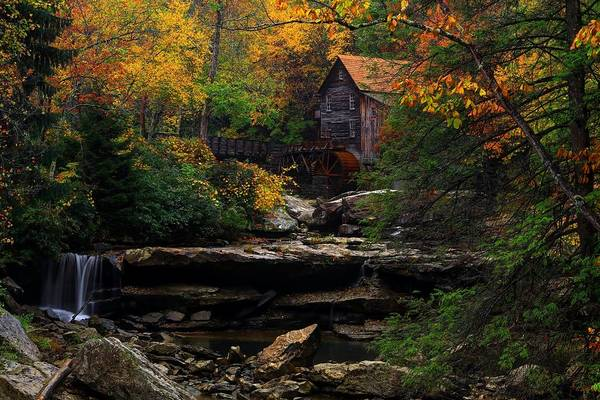 Photograph - Glades Creek Grist Mill West Virginia by Carol Montoya